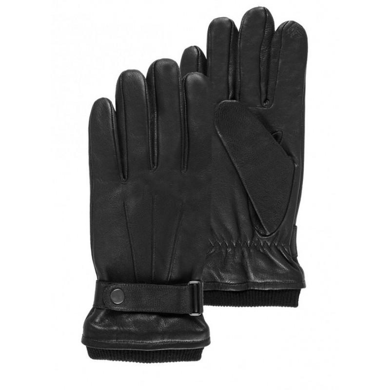 Gants cuir Isotoner - Tactiles avec patte