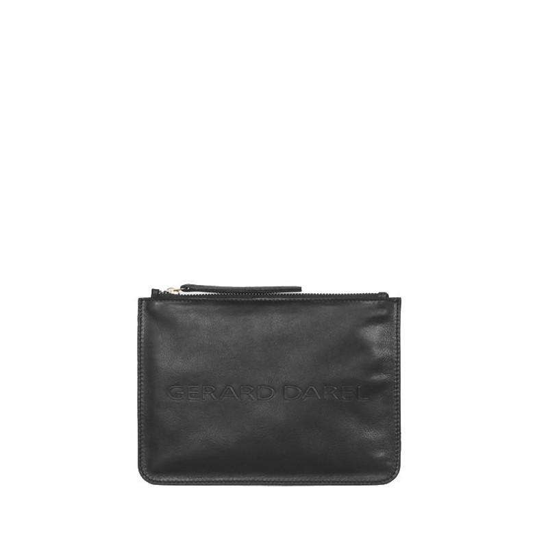Pochette zippée en cuir lisse La Pocket GD