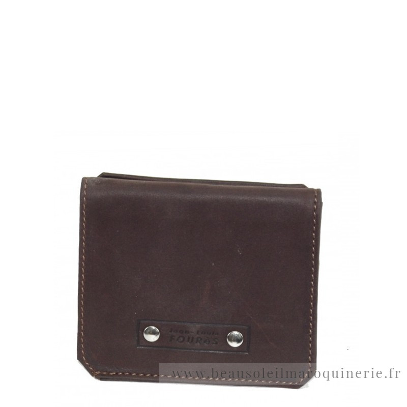 Porte-monnaie en cuir dos à dos Baroudeur