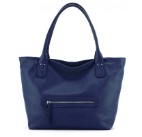 Sac shopping en cuir Abricot