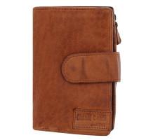 Porte monnaie avec rabat en cuir