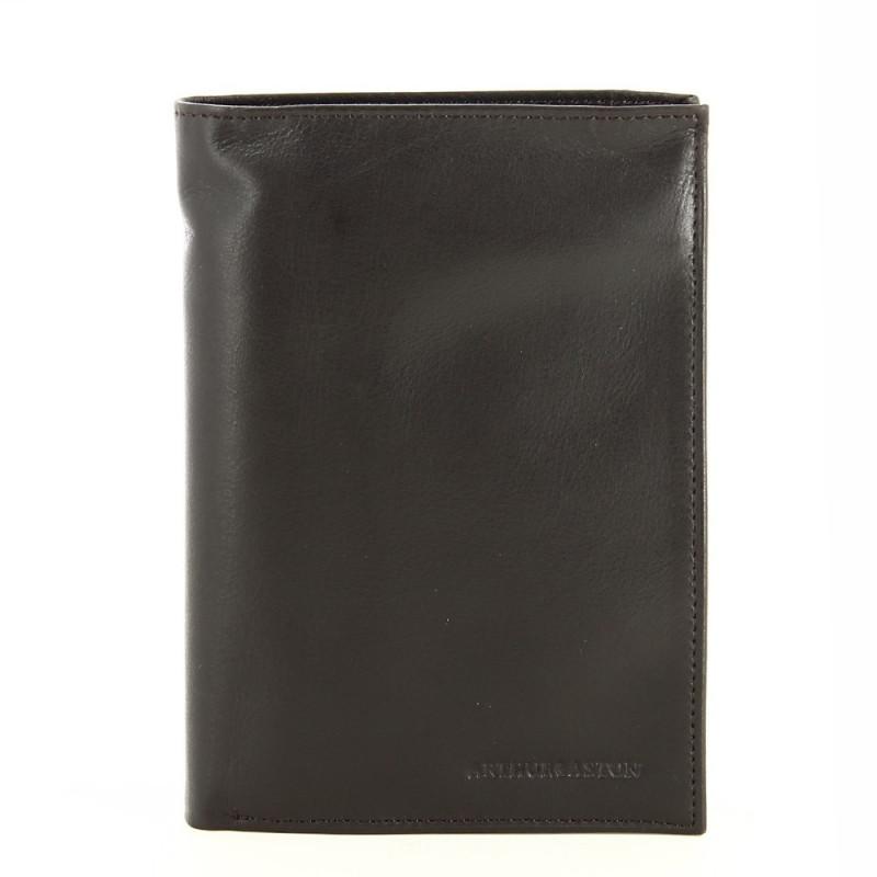 Portefeuille européen en cuir lisse 1443