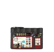 Porte-monnaie zippé à paillettes Music Box