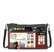 Pochette bandoulière à paillettes Music Box