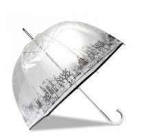 Parapluie cloche transparent ouverture manuelle