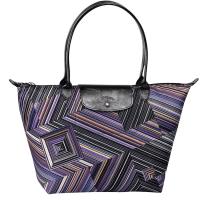 Grand sac shopping Op Art