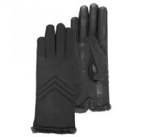 Gants textile résistant eau écrans tactiles doublés micro-fourrure - Isotoner