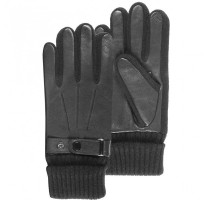 Gants homme cuir tactiles doublés polaire - Isotoner