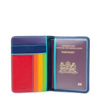 Porte passeport multicolore en cuir