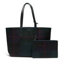 Sac shopping Anna Tartan réversible Lacoste NF2624AS