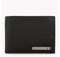 Portefeuille cuir avec plaque logo Tommy Hilfiger AM0AM03636