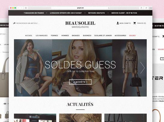 Site www.beausoleilmaroquinerie.fr