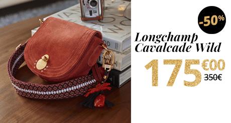 SOLDES Sac Longchamp Cavalcade Wild -50%