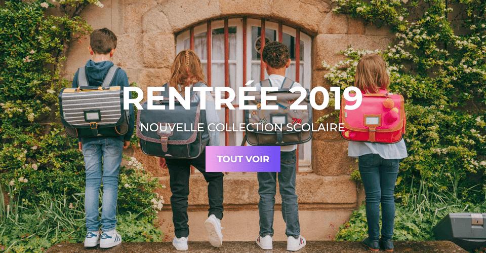 Sac scolaire et cartable enfant nouvelle collection rentrée 2019